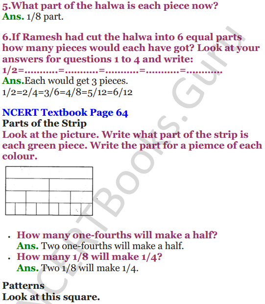NCERT Solutions for Class 5 Maths Chapter 4 Parts And Wholes 16