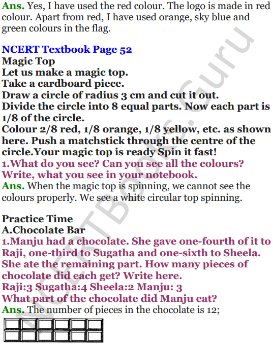 NCERT Solutions for Class 5 Maths Chapter 4 Parts And Wholes 6
