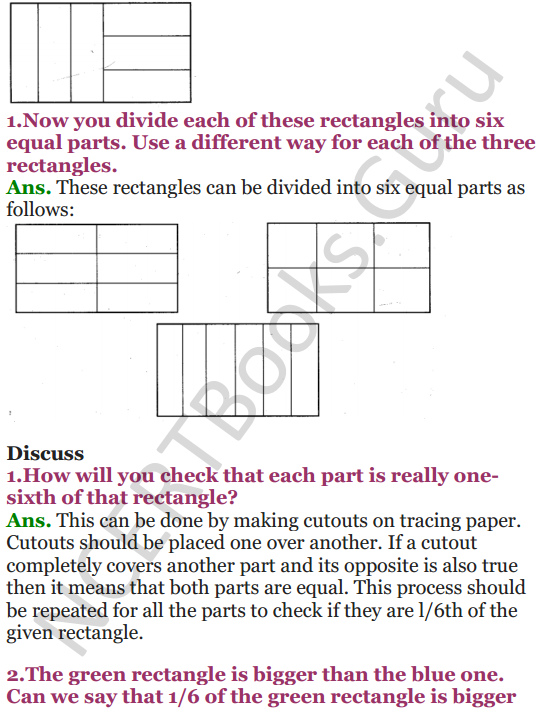 NCERT Solutions for Class 5 Maths Chapter 4 Parts And Wholes 9