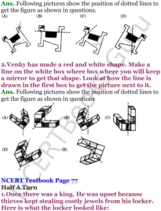 NCERT Solutions for Class 5 Maths Chapter 5 Does it Look The Same 3