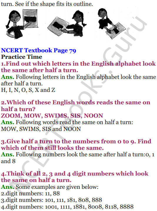 NCERT Solutions for Class 5 Maths Chapter 5 Does it Look The Same 6