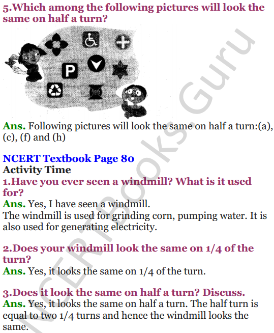 NCERT Solutions for Class 5 Maths Chapter 5 Does it Look The Same 7