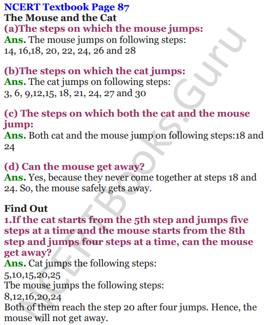 NCERT Solutions for Class 5 Maths Chapter 6 Be My Multiple,I'll Be Your Factor 1