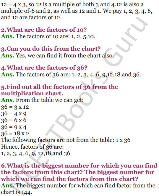 NCERT Solutions for Class 5 Maths Chapter 6 Be My Multiple,I'll Be Your Factor 10