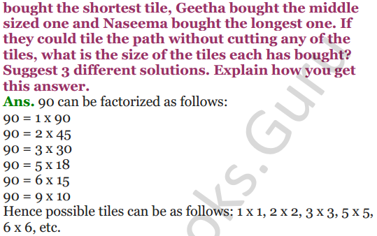 NCERT Solutions for Class 5 Maths Chapter 6 Be My Multiple,I'll Be Your Factor 15