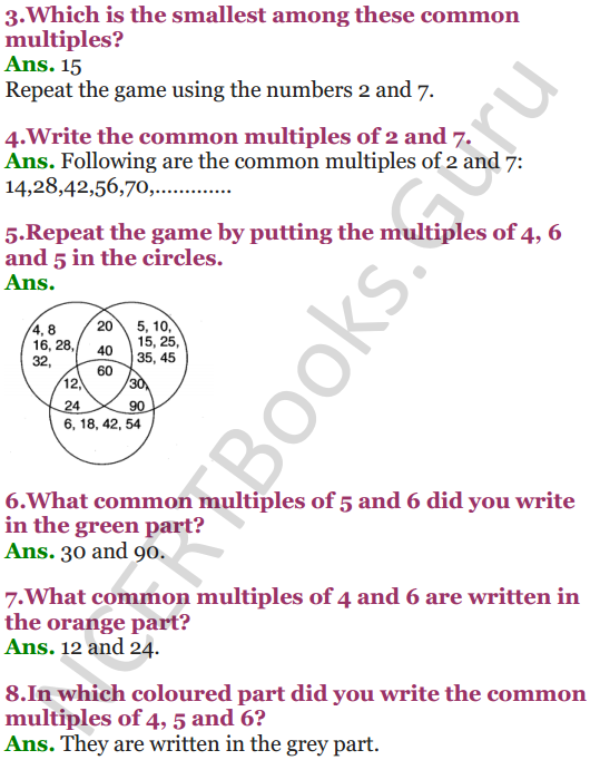 NCERT Solutions for Class 5 Maths Chapter 6 Be My Multiple,I'll Be Your Factor 5