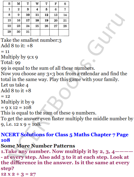 NCERT Solutions for Class 5 Maths Chapter 7 Can You See The Pattern 12