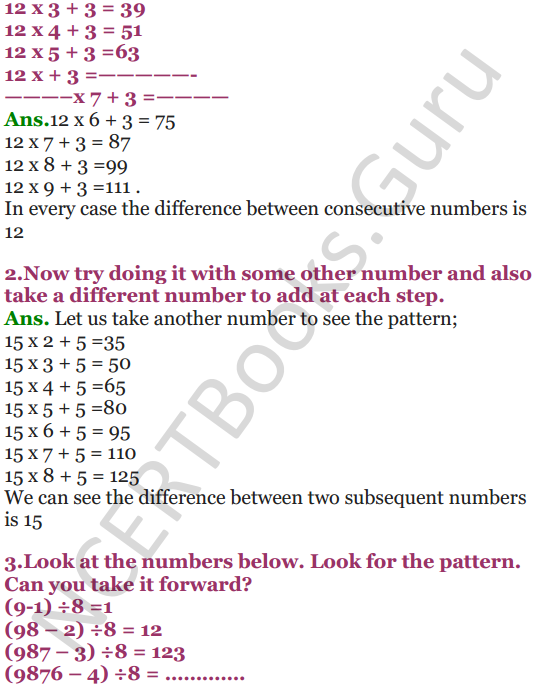NCERT Solutions for Class 5 Maths Chapter 7 Can You See The Pattern 13