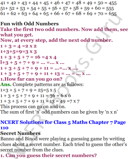 NCERT Solutions for Class 5 Maths Chapter 7 Can You See The Pattern 15