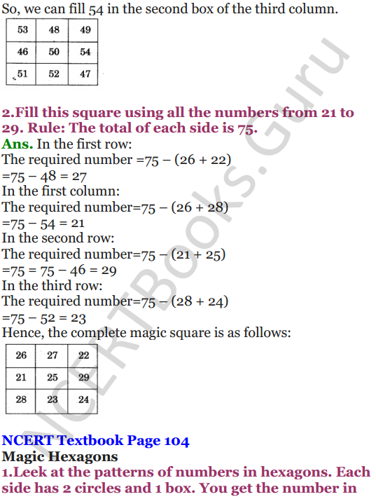 NCERT Solutions for Class 5 Maths Chapter 7 Can You See The Pattern 6