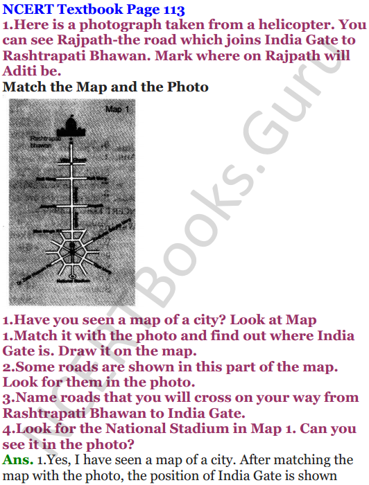NCERT Solutions for Class 5 Maths Chapter 8 Mapping Your Way 1