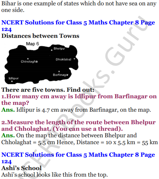 NCERT Solutions for Class 5 Maths Chapter 8 Mapping Your Way 10