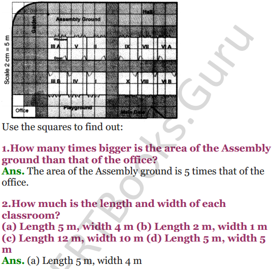 NCERT Solutions for Class 5 Maths Chapter 8 Mapping Your Way 11