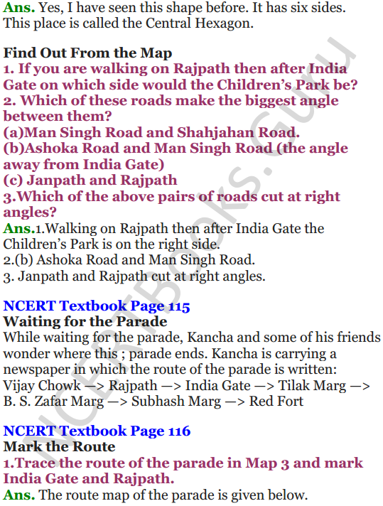 NCERT Solutions for Class 5 Maths Chapter 8 Mapping Your Way 3