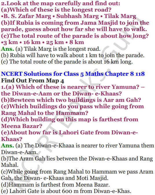 NCERT Solutions for Class 5 Maths Chapter 8 Mapping Your Way 4