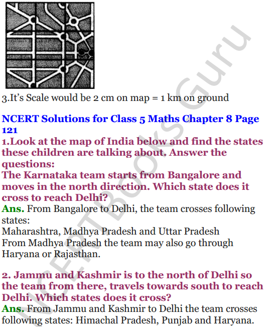 NCERT Solutions for Class 5 Maths Chapter 8 Mapping Your Way 7