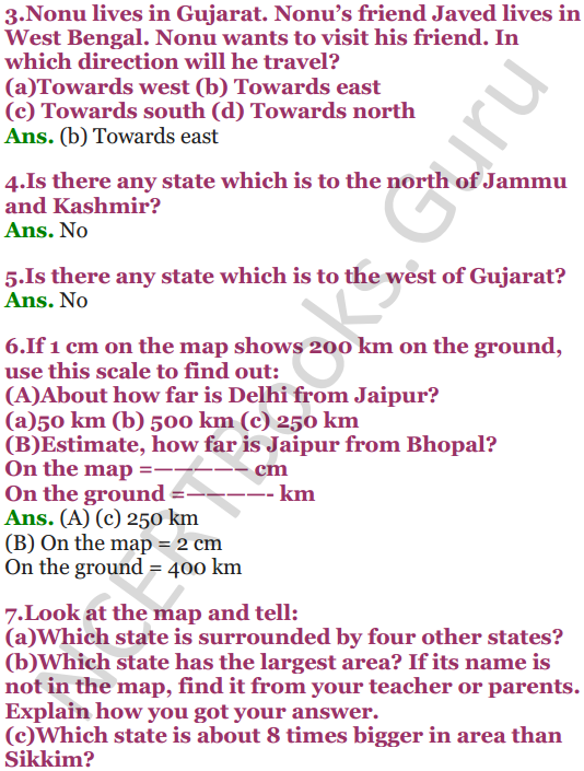 NCERT Solutions for Class 5 Maths Chapter 8 Mapping Your Way 8