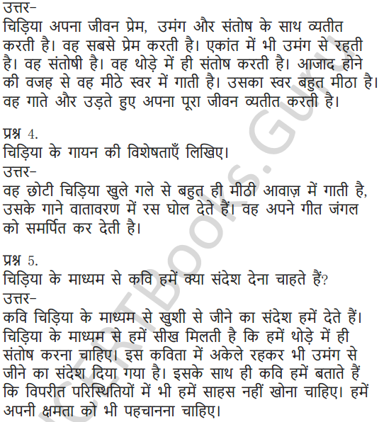 NCERT Solutions for Class 6 Hindi Chapter 1 वह चिड़िया जो 11