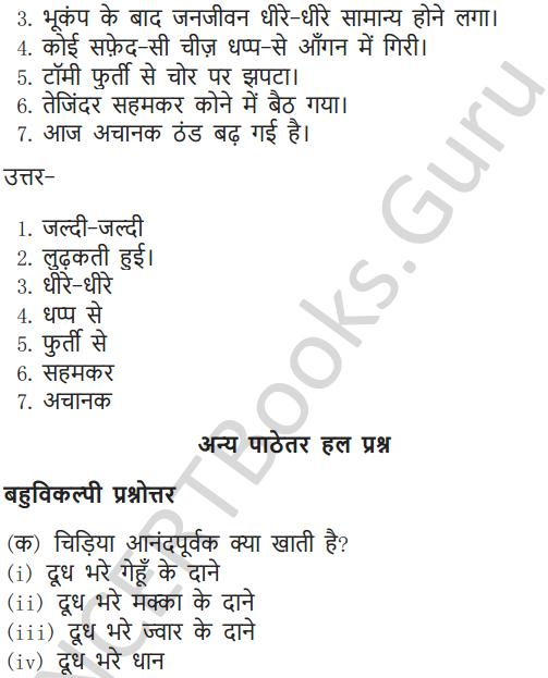 NCERT Solutions for Class 6 Hindi Chapter 1 वह चिड़िया जो 7