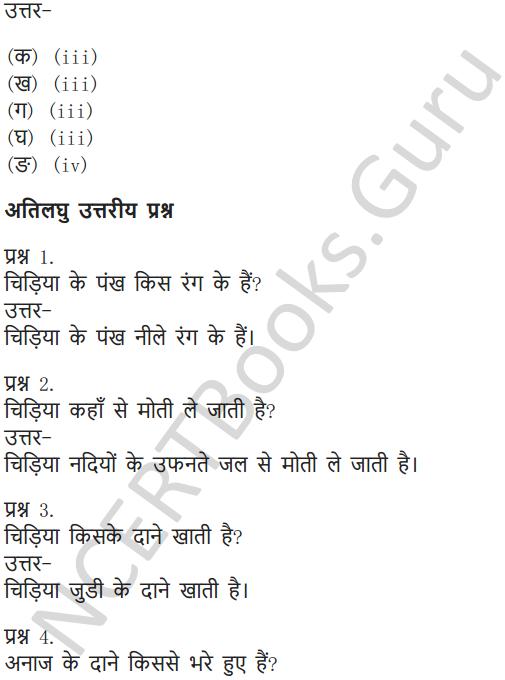 NCERT Solutions for Class 6 Hindi Chapter 1 वह चिड़िया जो 9
