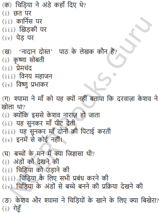 NCERT Solutions for Class 6 Hindi Chapter 3 नादान दोस्त 8