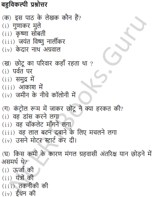 NCERT Solutions for Class 6 Hindi Chapter 6 पार नज़र के 12