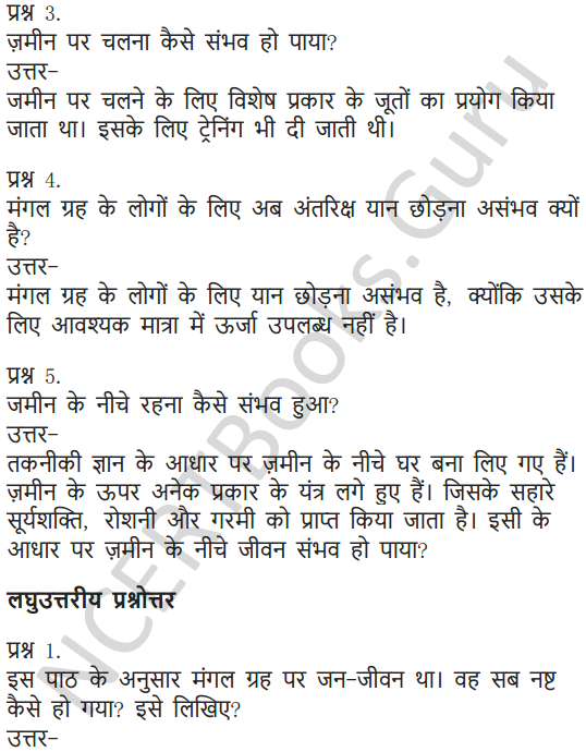 NCERT Solutions for Class 6 Hindi Chapter 6 पार नज़र के 14