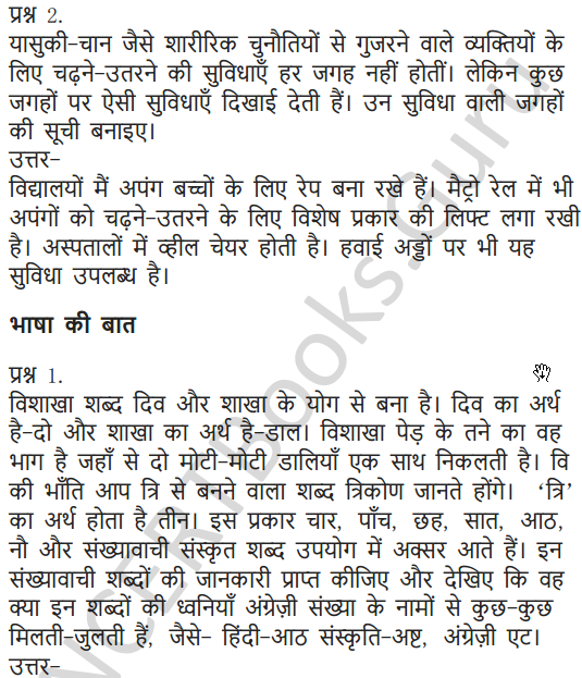 NCERT Solutions for Class 7 Hindi Chapter 10 अपूर्व अनुभव 5