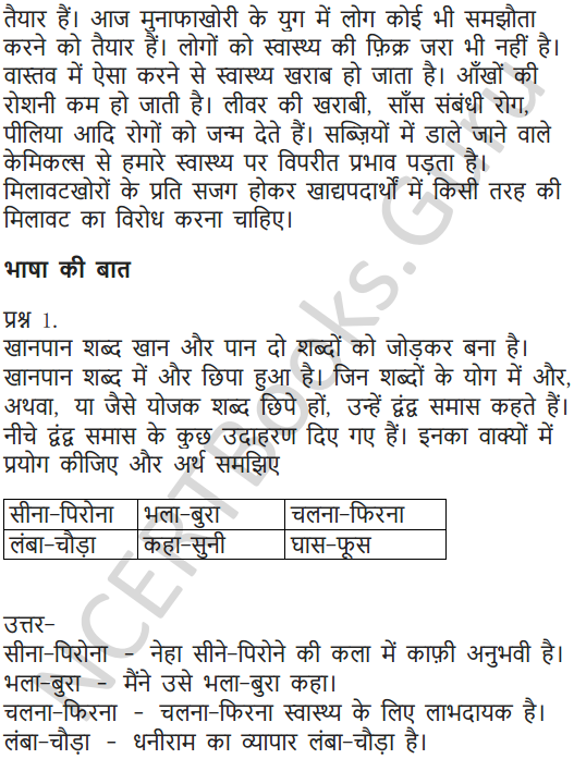 NCERT Solutions for Class 7 Hindi Chapter 14 खानपान की बदलती तस्वीर 11