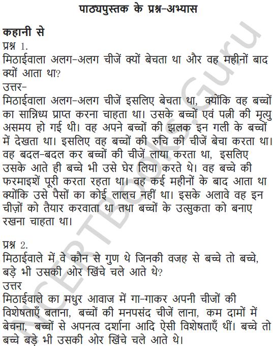 NCERT Solutions for Class 7 Hindi Chapter 5 मीठाईवाला 1