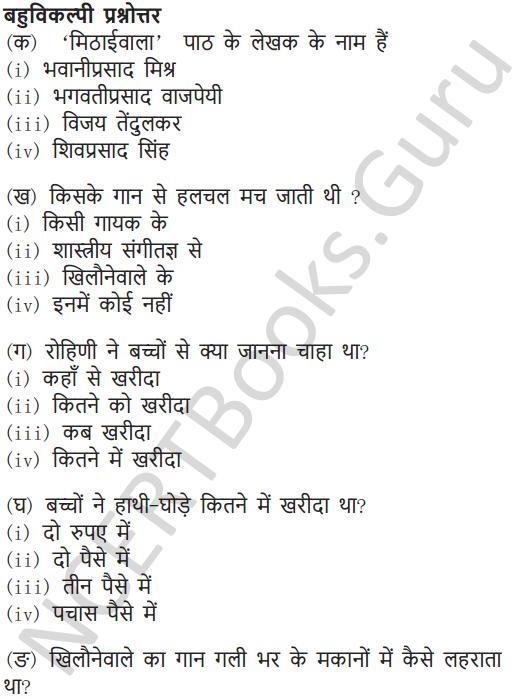 NCERT Solutions for Class 7 Hindi Chapter 5 मीठाईवाला 12