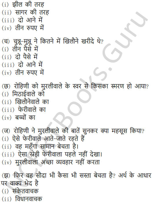 NCERT Solutions for Class 7 Hindi Chapter 5 मीठाईवाला 13