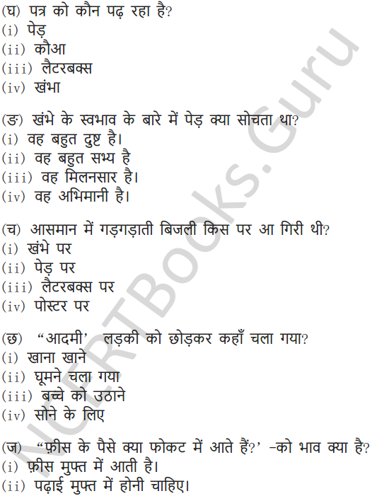 NCERT Solutions for Class 7 Hindi Chapter 7 पापा खो गए 10
