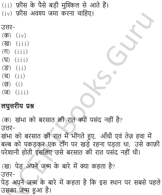NCERT Solutions for Class 7 Hindi Chapter 7 पापा खो गए 11