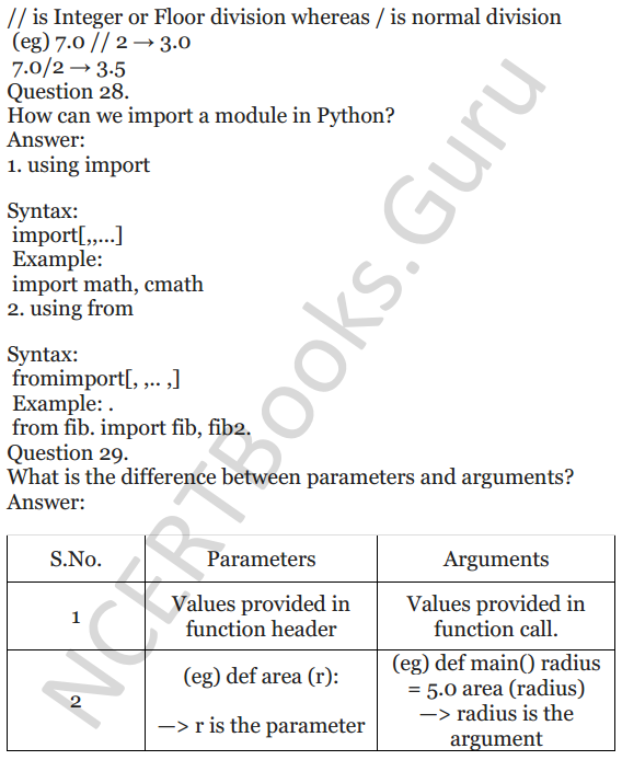 Important Questions for Class 12 Computer Science (Python) chapter - 1 – Review of Python 11