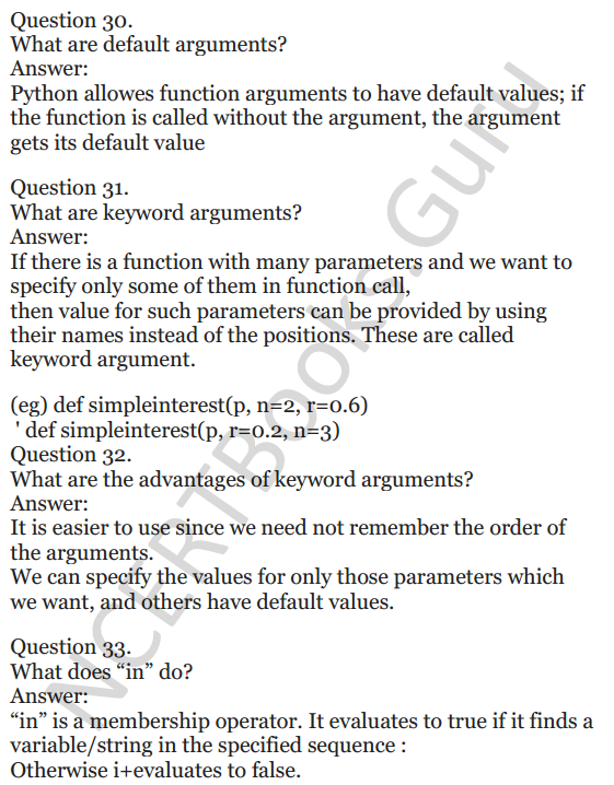 Important Questions for Class 12 Computer Science (Python) chapter - 1 – Review of Python 12
