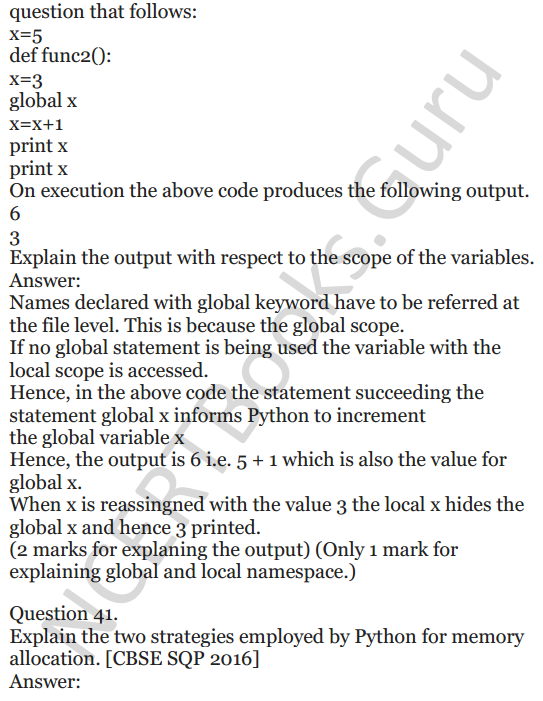Important Questions for Class 12 Computer Science (Python) chapter - 1 – Review of Python 15