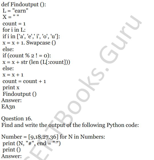 Important Questions for Class 12 Computer Science (Python) chapter - 1 – Review of Python 23