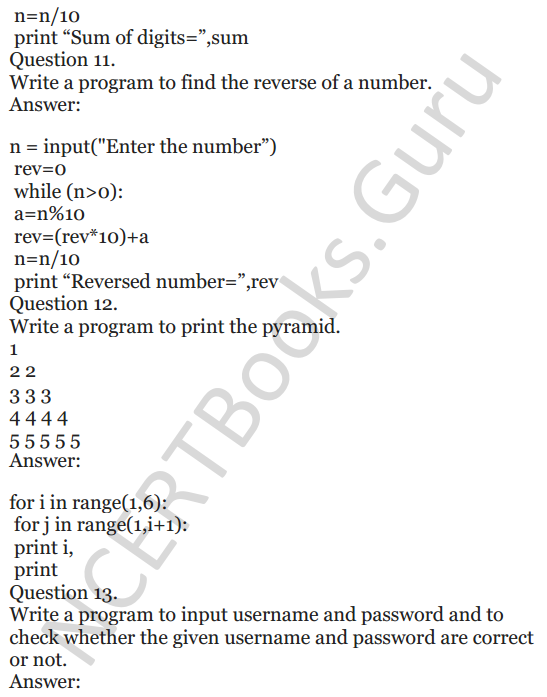 Important Questions for Class 12 Computer Science (Python) chapter - 1 – Review of Python 43