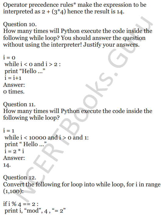 Important Questions for Class 12 Computer Science (Python) chapter - 1 – Review of Python 5
