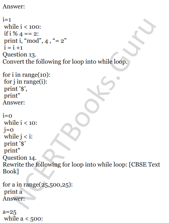 Important Questions for Class 12 Computer Science (Python) chapter - 1 – Review of Python 6