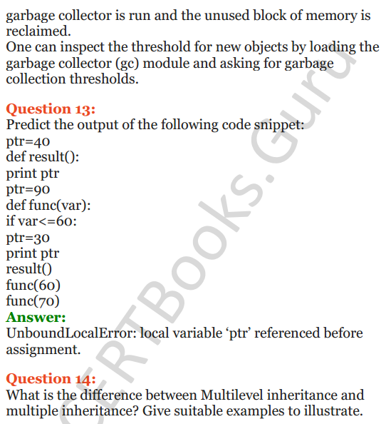Important Questions for Class 12 Computer Science (Python) Chapter - 2 – Object Oriented Programming Concepts 21