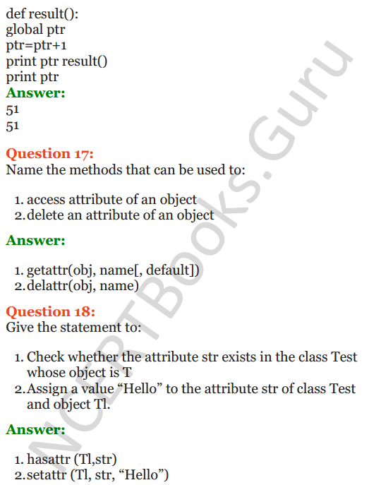 Important Questions for Class 12 Computer Science (Python) Chapter - 2 – Object Oriented Programming Concepts 23