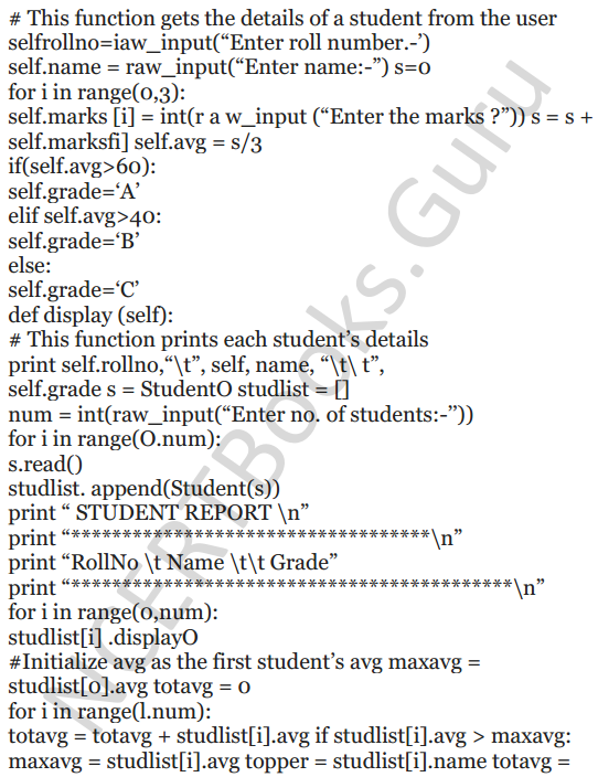 Important Questions for Class 12 Computer Science (Python) Chapter - 2 – Object Oriented Programming Concepts 34