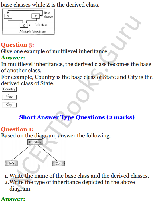 Important Questions for Class 12 Computer Science (Python) Chapter - 2 – Object Oriented Programming Concepts 38