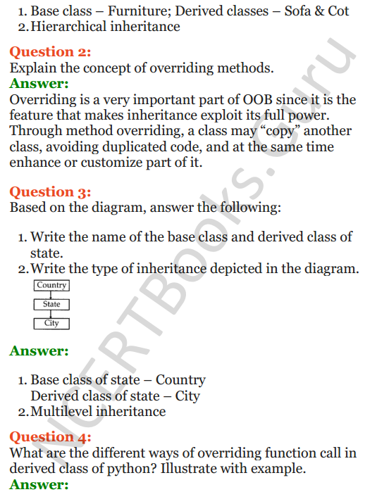 Important Questions for Class 12 Computer Science (Python) Chapter - 2 – Object Oriented Programming Concepts 39
