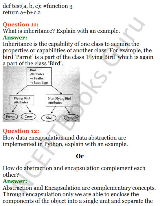 Important Questions for Class 12 Computer Science (Python) Chapter - 2 – Object Oriented Programming Concepts 5