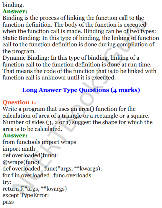 Important Questions for Class 12 Computer Science (Python) Chapter - 2 – Object Oriented Programming Concepts 9
