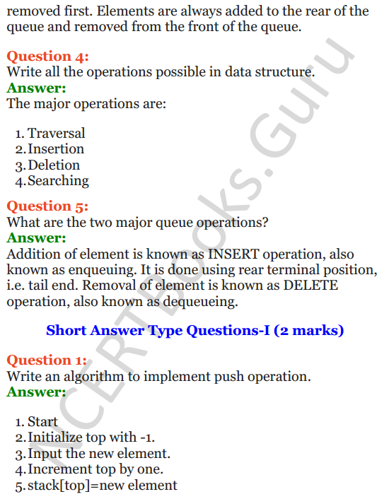Important Questions for Class 12 Computer Science (Python) chapter - 3 – Lists Manipulation and Implementation 18