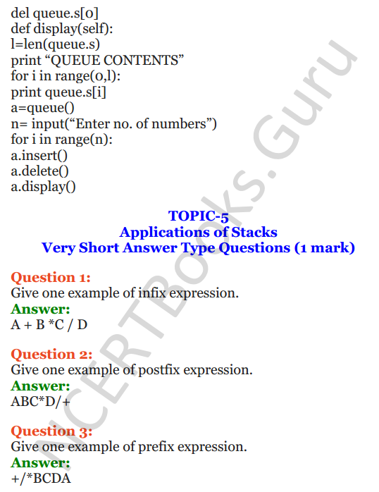 Important Questions for Class 12 Computer Science (Python) chapter - 3 – Lists Manipulation and Implementation 30